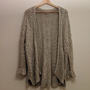 [Madewell] Taupe Chunky Knit Cardigan - Small